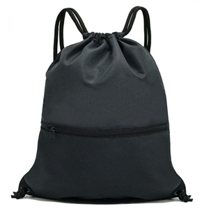 Black Drawstring Backpack Sports, Gym Bags SackPacks - String Bag