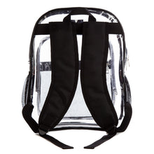 Load image into Gallery viewer, Clear Transparent Multi-Pocket Backpack for School, Outdoors Bags - Black Trim