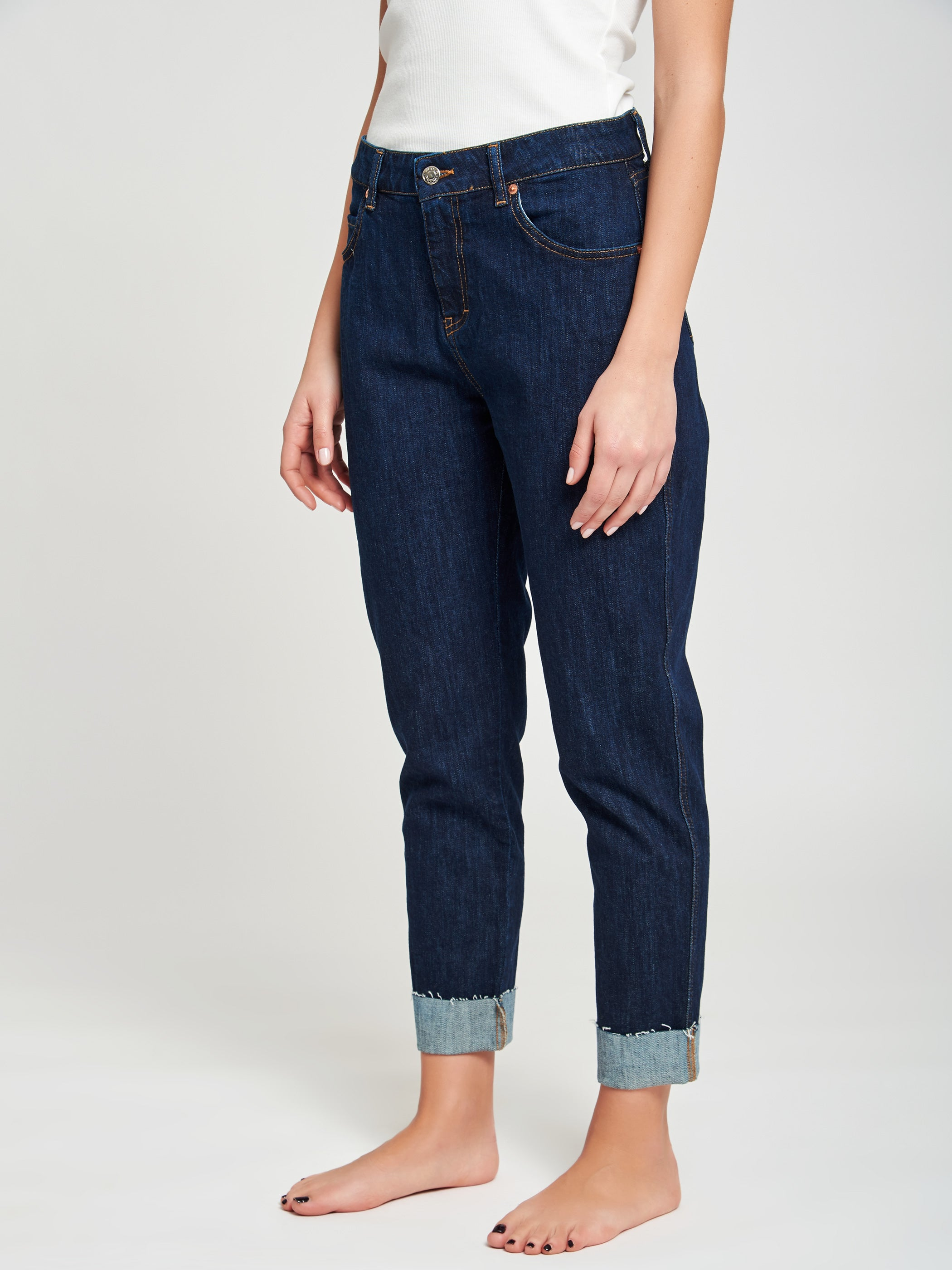 Frayed hem jeans - sienna icon