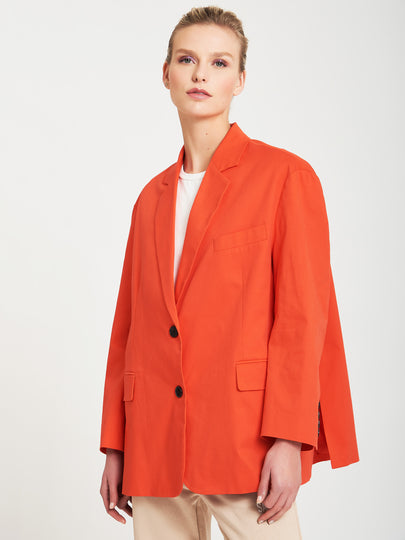 Oversize blazer with side vents