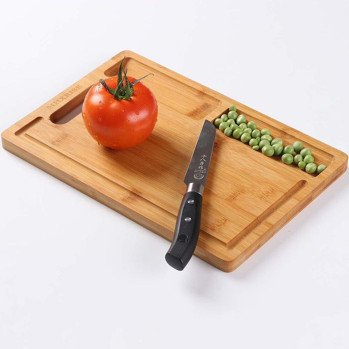 HHXRISE  Small Natural Bamboo Cutting Board With Handle