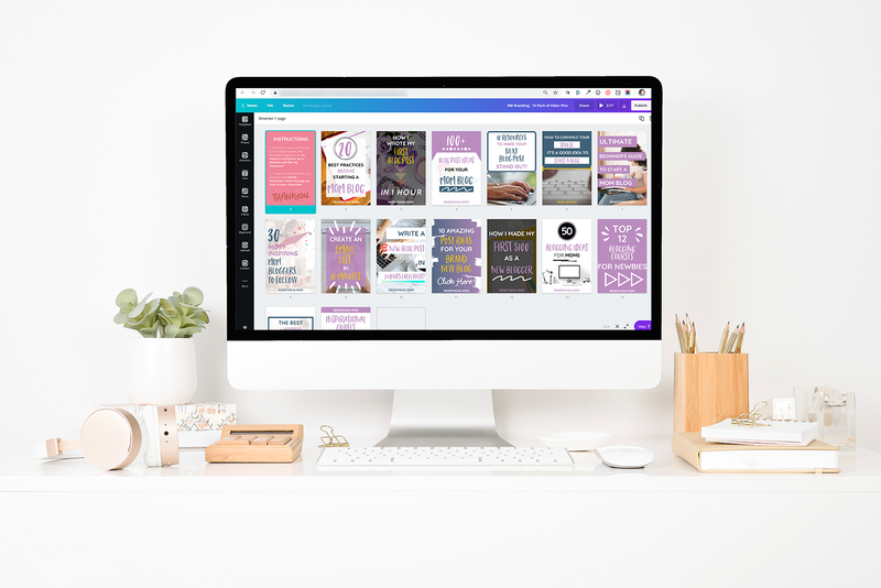 15-Pack Canva Video Pin Templates