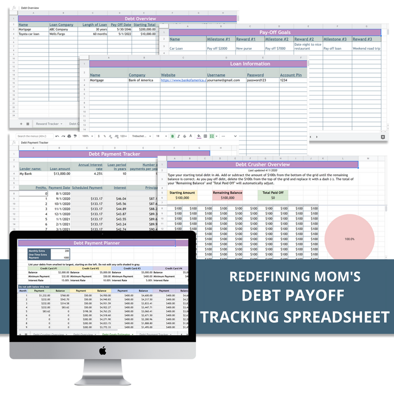 Debt Payoff Tracking Spreadsheet