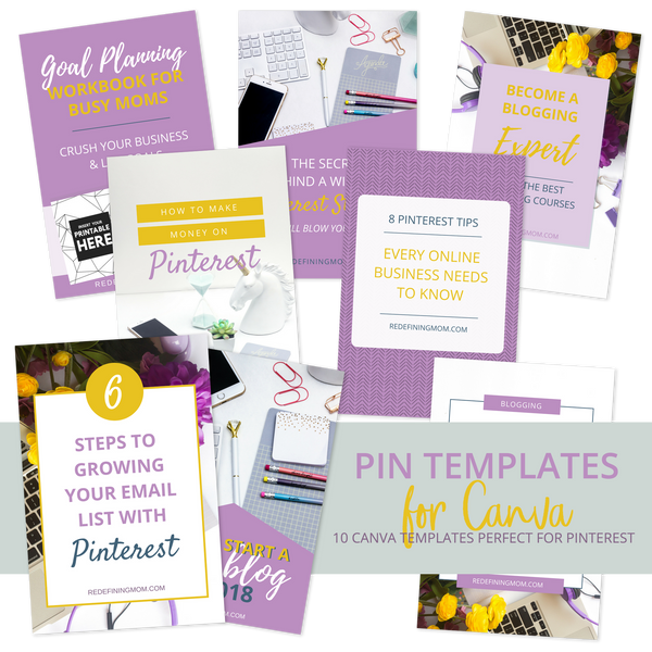 10-Pack Canva Pinterest Templates