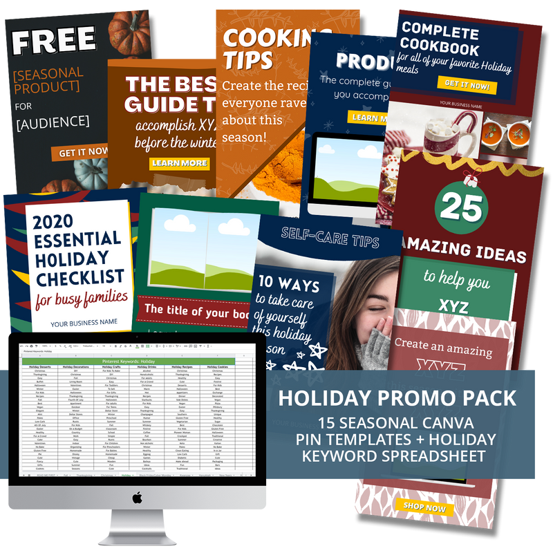 Holiday Promo Pack for Pinterest
