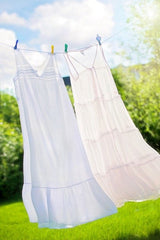 clothes on laundry line in sun