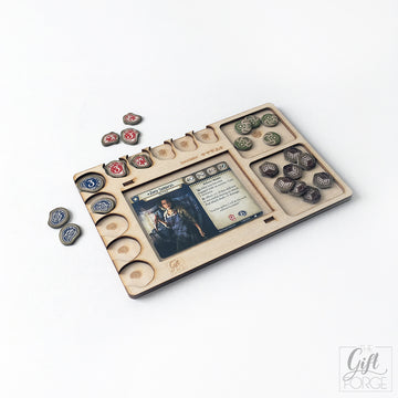 Player board compatible with Arkham Horror: The Card Game