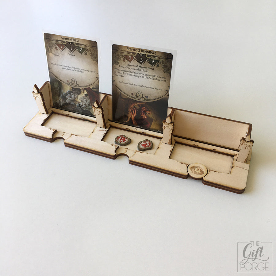 Encounter holder compatible with Arkham Horror: The Card Game