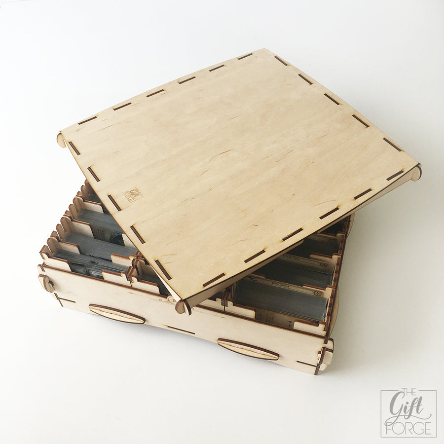 Big wooden box compatible with Arkham Horror: The Card Game