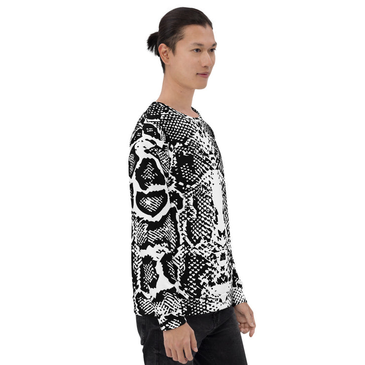 All Over Printed Snakeskin Sweatshirt