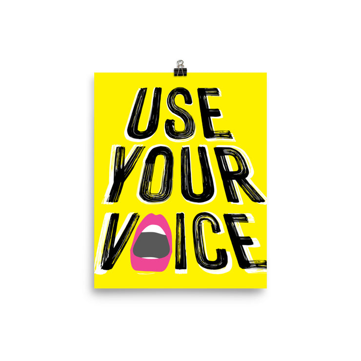 Use Your Voice Vertical Print
