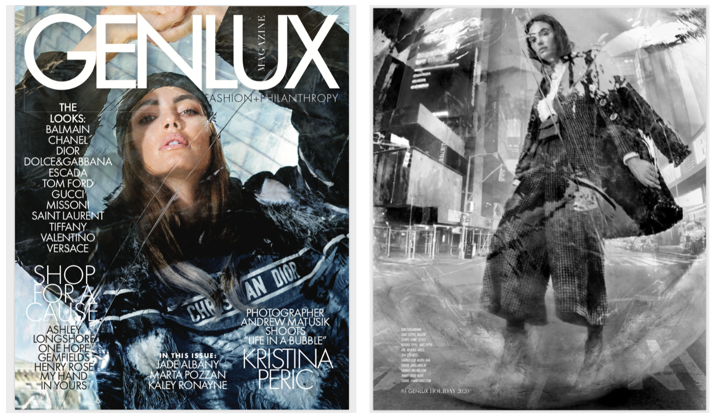 Elie Micro Bag featured in GenLux Coverstory