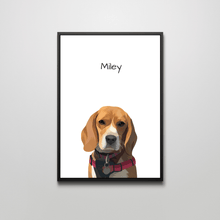 Load image into Gallery viewer, (1 Pet) Custom Pet Portraits (Framed)