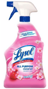Lysol All Purpose Cleaner Spray - Kills 99.99% of germs while wiping away dirt and messes. Unique Wet Lock Seal retains moisture