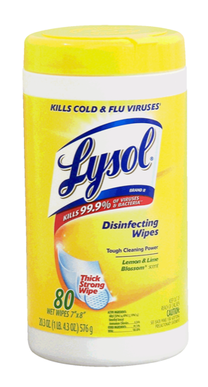 Lysol Disinfecting Wipes, Lemon & Lime Blossom, 80 ct. x1