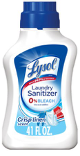 Lysol Laundry Sanitizer 0% Bleach, Crisp Linen Scent, 41oz - Kills 99.9% of Bacteria Detergents Leave Behind!
