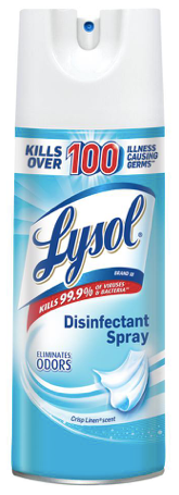 Lysol Disinfectant Spray, Crisp Linen, 12.5 oz.  KILLS 99.9% of Viruses and Bacteria