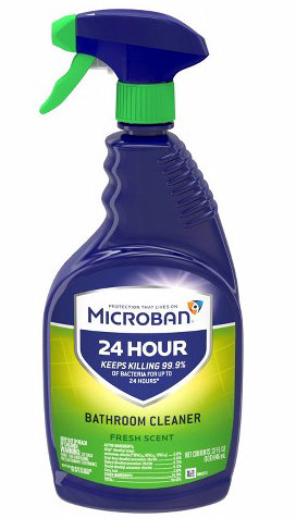 Microban 24-Hour Bathroom Cleaner and Sanitizing Spray - Fresh Scent - 32 fl oz. x1