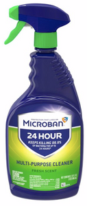 Microban 24-Hour Multi-Purpose Cleaner and Disinfectant Spray - Fresh Scent - 32 fl oz,   x1