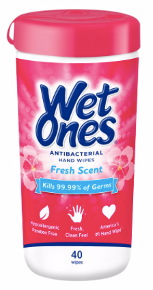 Wet Ones, Fresh Scent, 40 ct x1 - Kills 99.99% of germs while wiping away dirt and messes