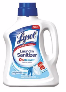 Lysol Laundry Sanitizer 0% Bleach, Crisp Linen Scent, 90oz - Kills 99.9% of Bacteria Detergents Leave Behind!