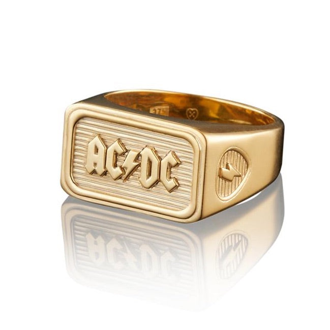 AC/DC 9K GOLD TRIBUTE RING