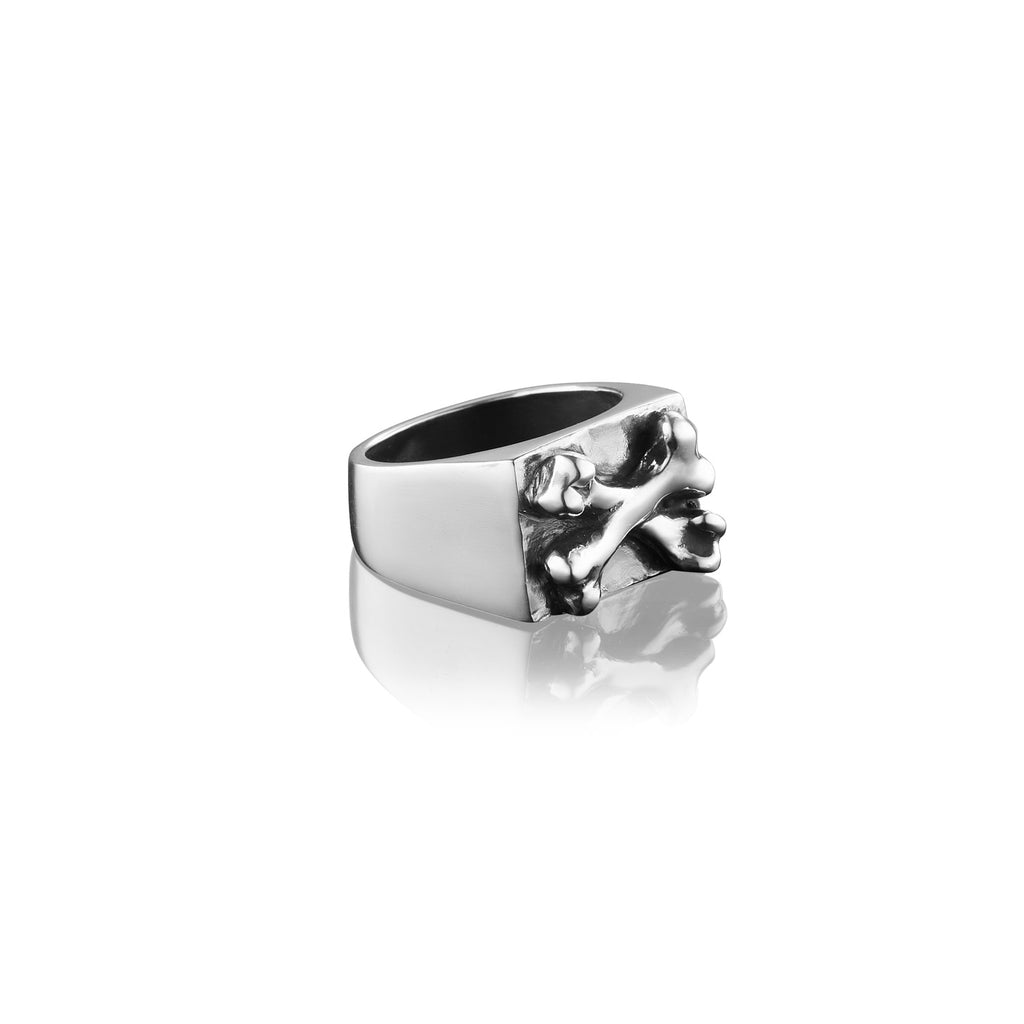 Crossbones Rectangular Signet