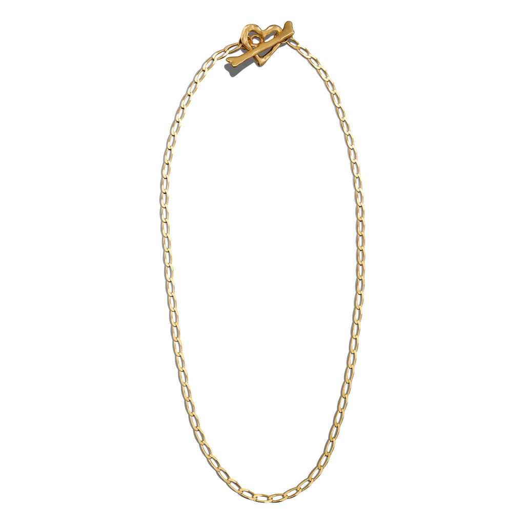 Fine Curb Cut Charm Necklace Chain