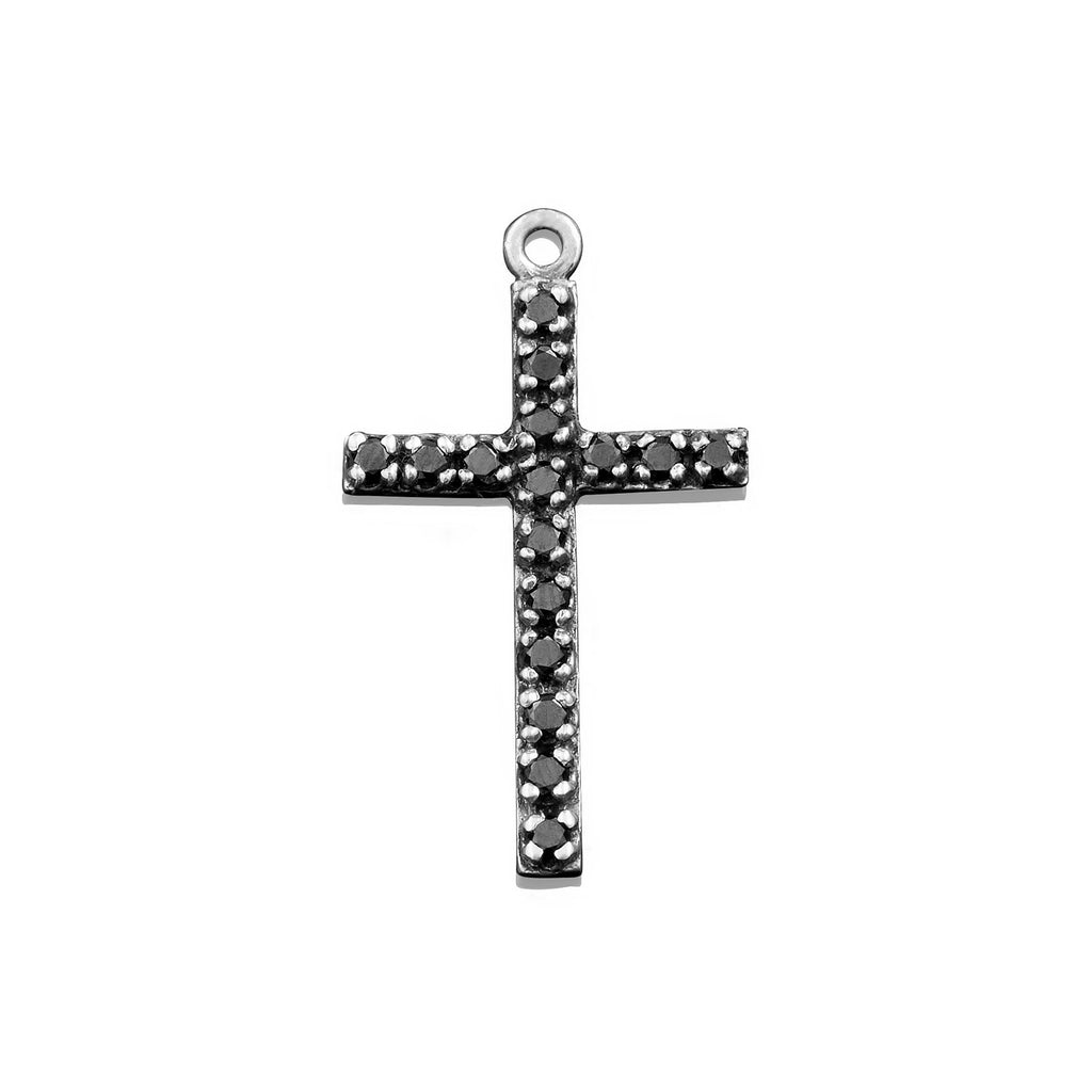 Black Diamond Cross Charm