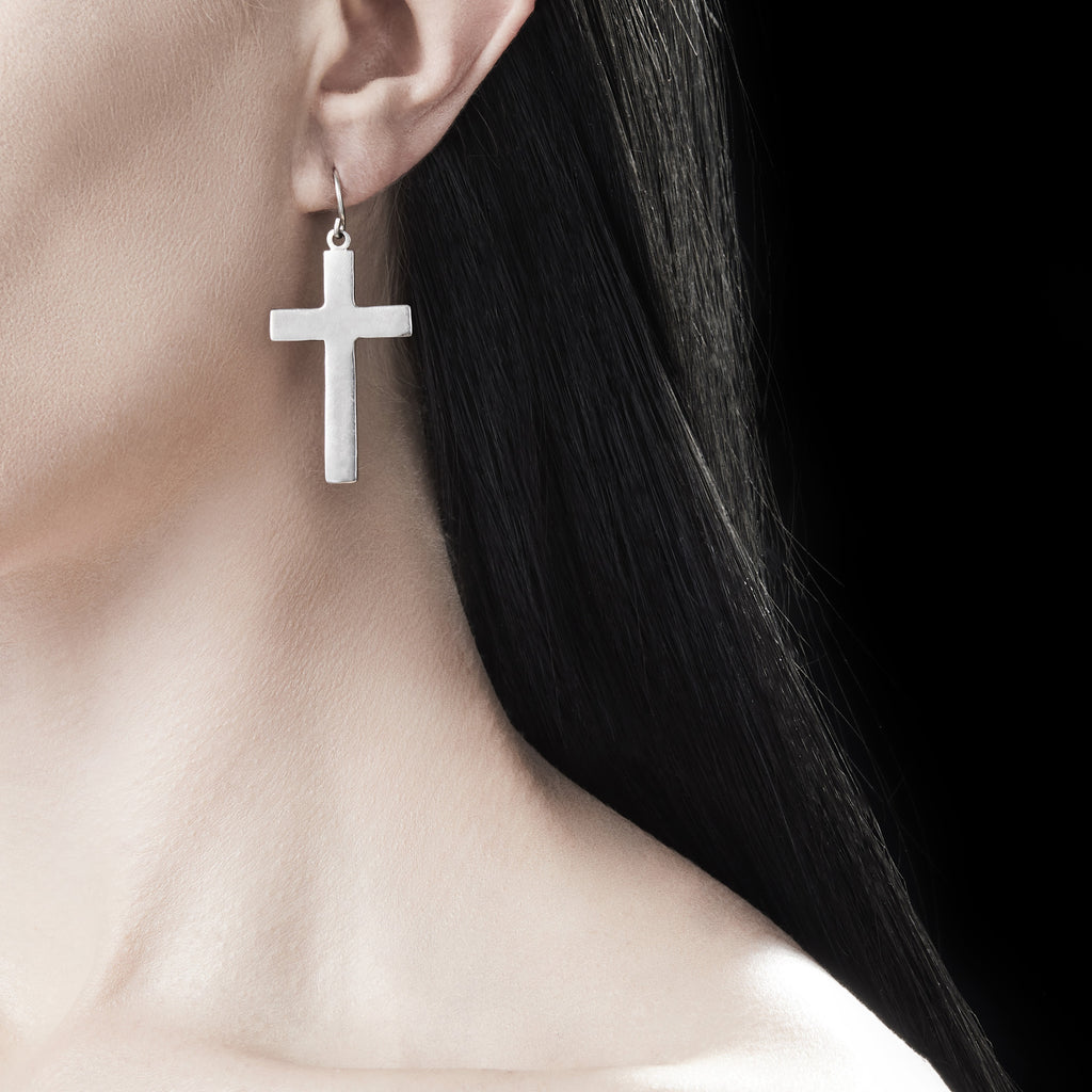 Large Cross Earring