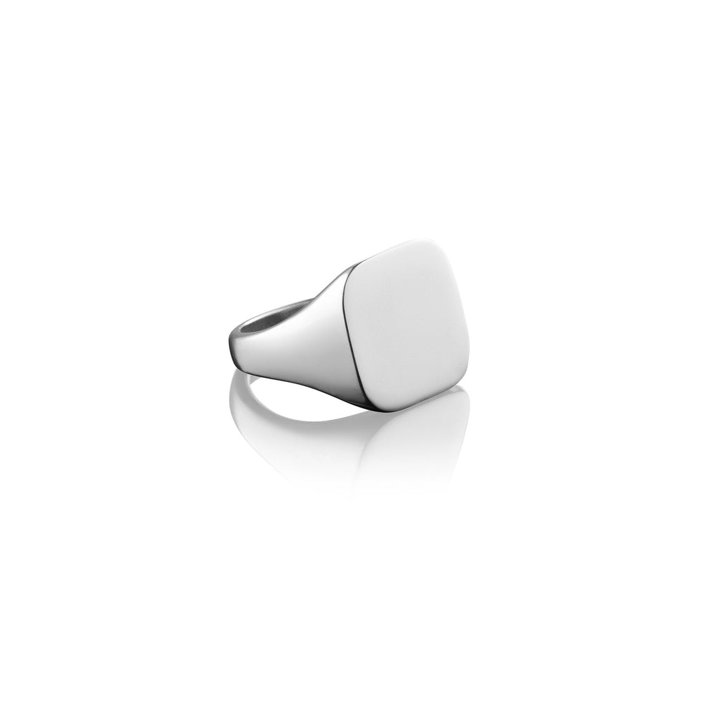 Rounded Square Signet Ring