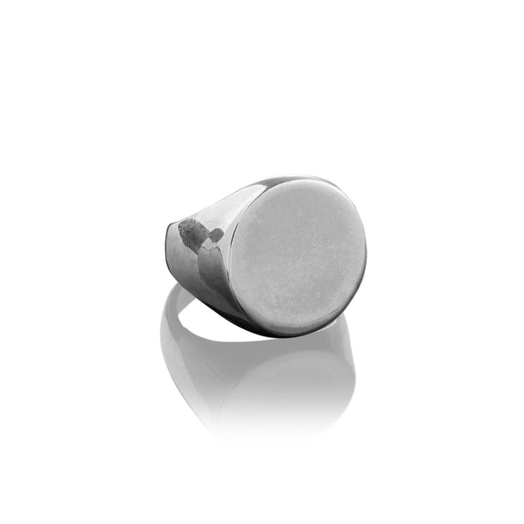 Large Circle Mens Signet Ring