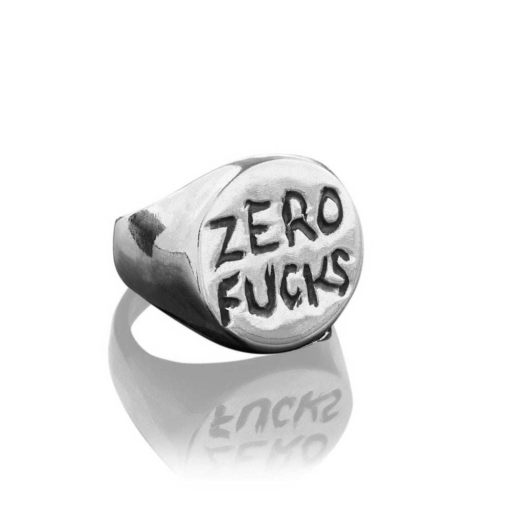 Zero Fucks Signet Ring