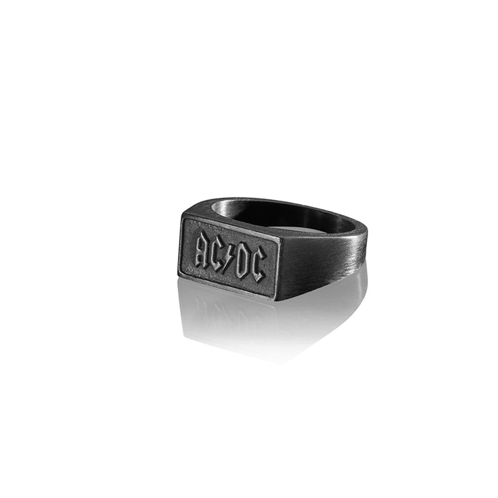 AC/DC BLACK FINISH SIGNET RING