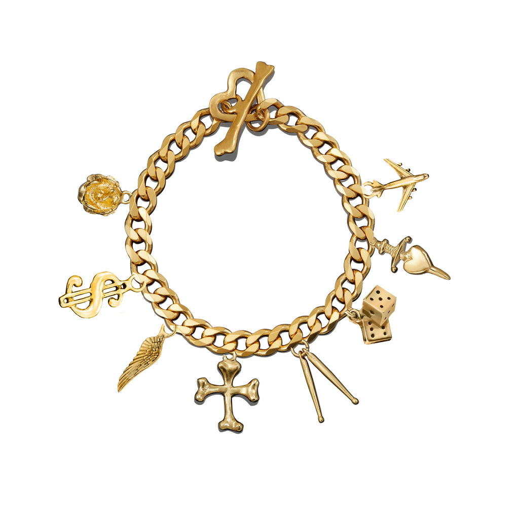 Charm Bracelet Gold Sample