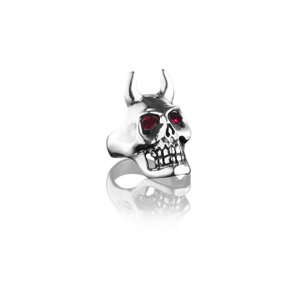 Satan Ring with Ruby Eyes