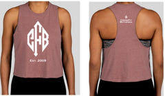 CrossFit Bethesda Racerback Cropped Tank (Heather Mauve)