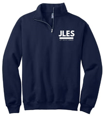 Navy Blue 1/4-Zip Embroidered Sweatshirt