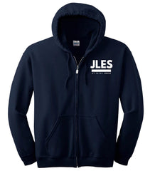 Navy Blue Full Zip Hooded Sweatshirt