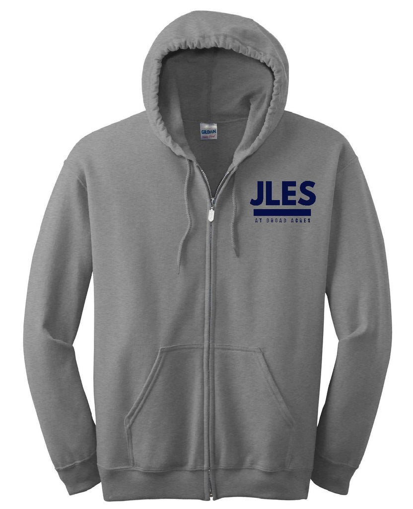 Sports Grey Full Zip Hooded Sweatshirt