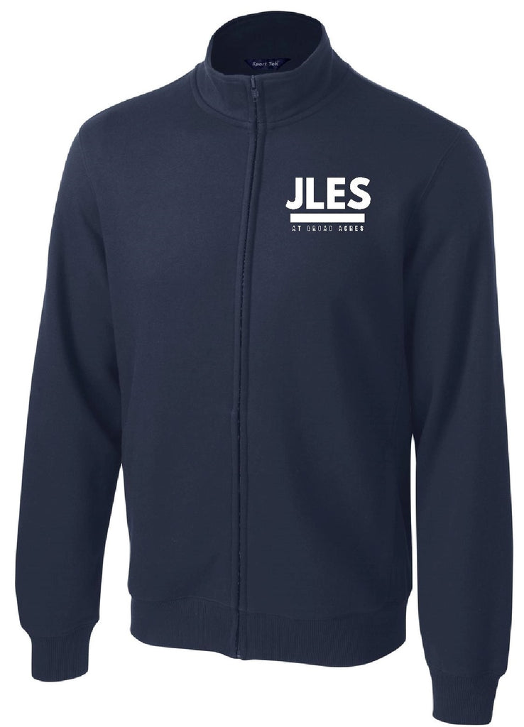 Navy Blue Full-Zip Embroidered Fleece