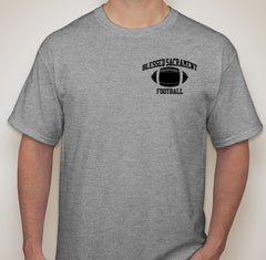 Blessed Sacrament Grey Football Tee