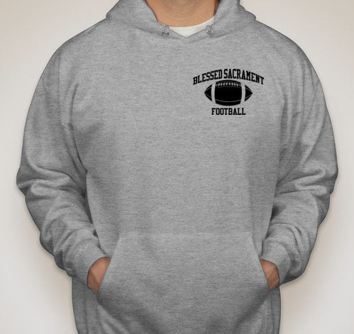 BSF Gray Hooded Sweatshirt