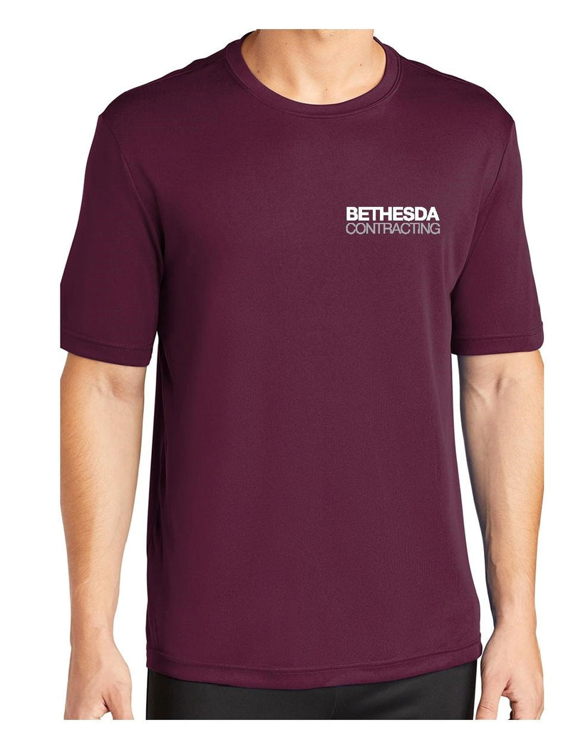 Bethesda Contracting Maroon Performance Tee