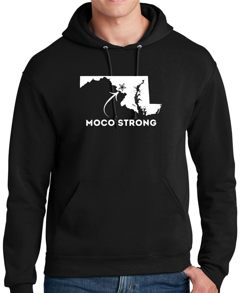 MoCo Strong Black Hooded Sweatshirt