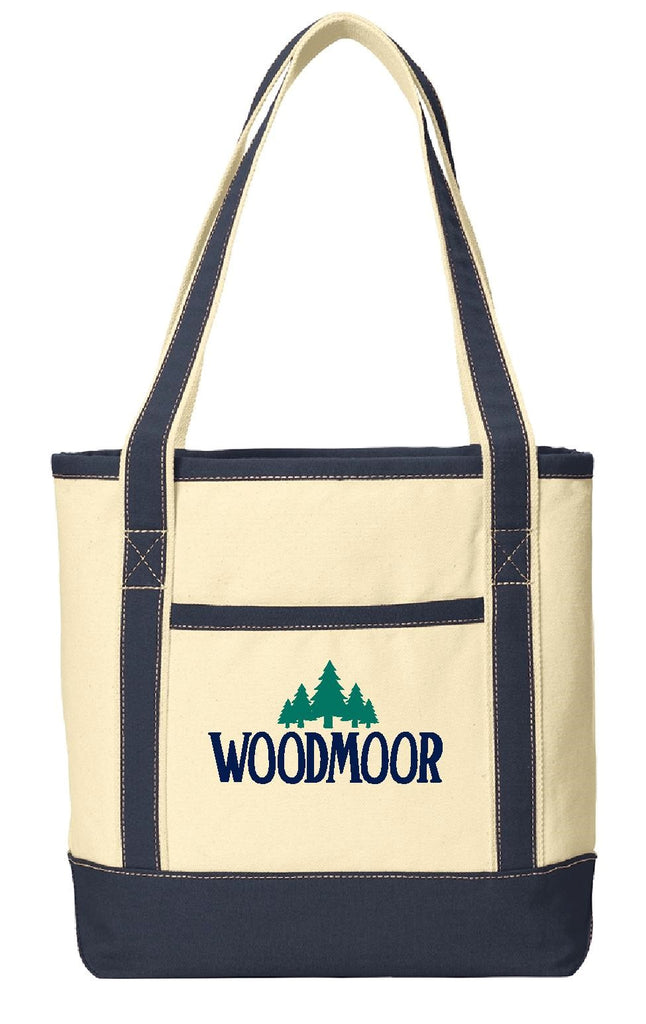 Woodmoor Embroidered Boat Tote
