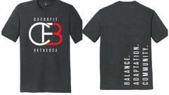 CrossFit Bethesda Men's Triblend Crew (Vintage Black)