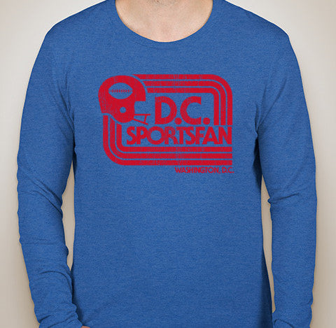 Vintage Royal DCSportsFan Long Sleeve Tri-Blend