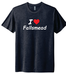 Navy Blue I Love Fallsmead Tee