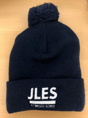 JLES Navy Blue Winter Beanie